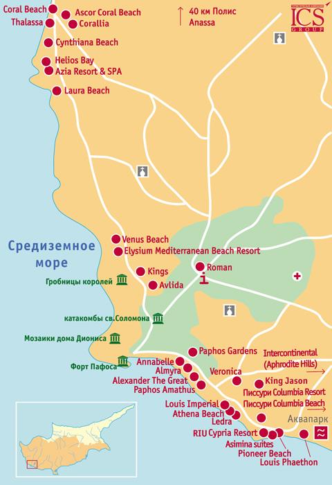 Карта Лимасола