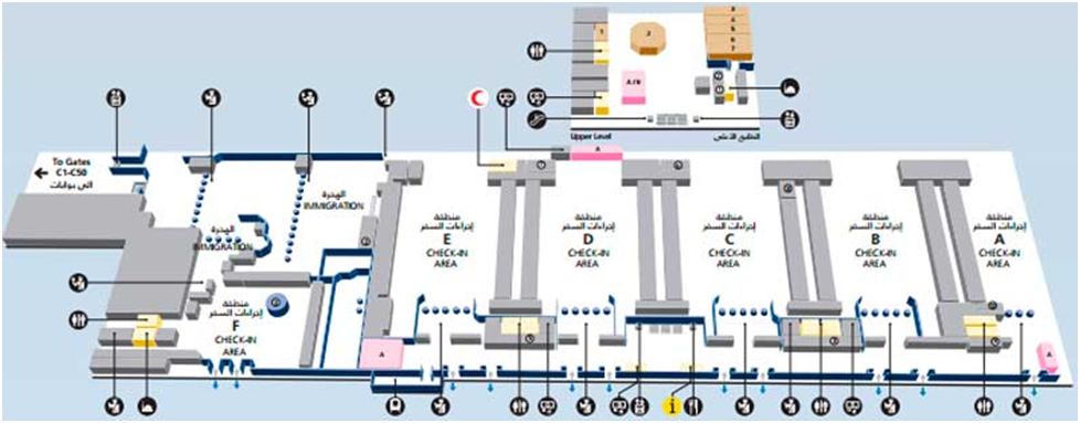 Дубай терминал 2 схема